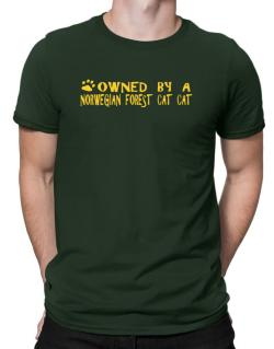 Owned By A Norwegian Forest Cat Men T-Shirt