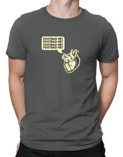 Footbag Net Heart Men T-Shirt