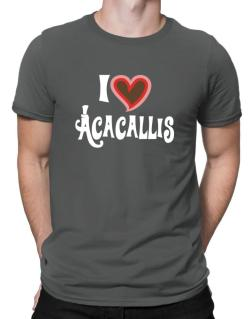 I Love Acacallis Men T-Shirt