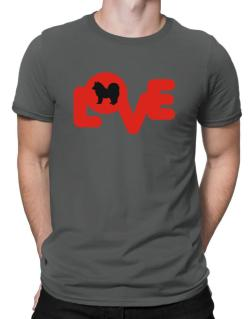 Love Silhouette American Eskimo Dog Men T-Shirt