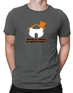 Home Is Where Applehead Siamese Is Men T-Shirt