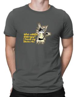 Who Needs Therapy? I Have My Devon Rex Men T-Shirt