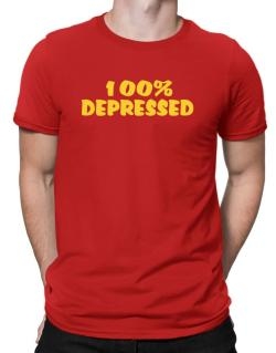 100% Depressed Men T-Shirt