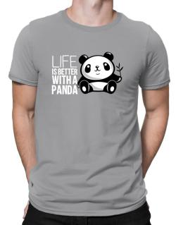 Life is better with a panda Men T-Shirt