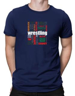 Wrestling Words Men T-Shirt