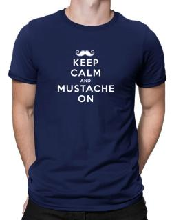 Mustache on Men T-Shirt