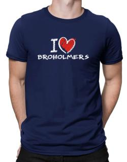 I love Broholmers chalk style Men T-Shirt