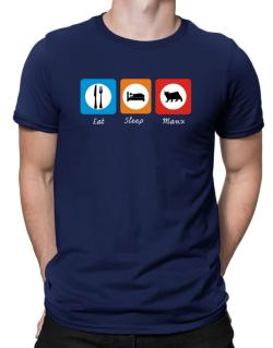 Eat sleep Manx Men T-Shirt