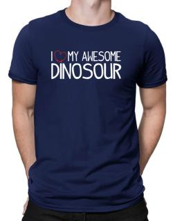 Polo de I love my awesome Dinosour