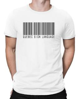 Quebec Sign Language Barcode Men T-Shirt