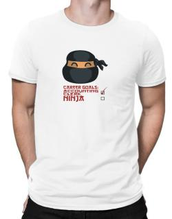 Carrer Goals: Accounting Clerk - Ninja Men T-Shirt