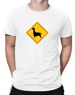 Dachshund Crossing Sign Men T-Shirt