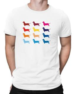 Colorful Dachshund Men T-Shirt