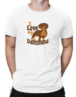 I love my dachshund Men T-Shirt