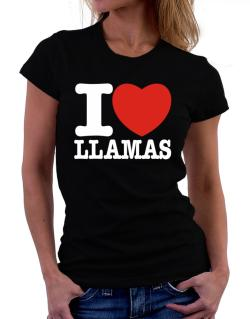 I Love Llamas Women T-Shirt