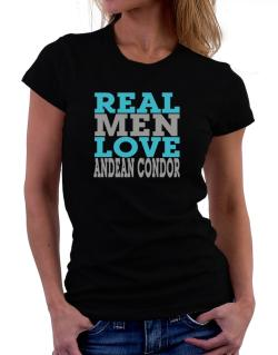 Real Men Love Andean Condor Women T-Shirt