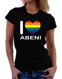 I Love Abeni - Rainbow Heart Women T-Shirt
