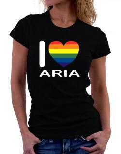I Love Aria - Rainbow Heart Women T-Shirt