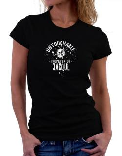 Untouchable Property Of Jacqui - Skull Women T-Shirt
