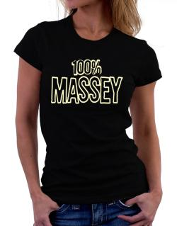 100% Massey Women T-Shirt