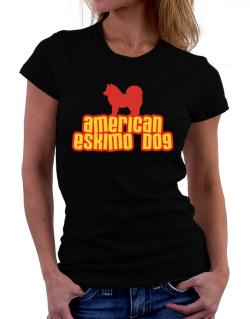 Breed Color American Eskimo Dog Women T-Shirt