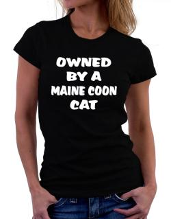 Owned By S Maine Coon Women T-Shirt