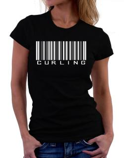 Curling Barcode / Bar Code Women T-Shirt