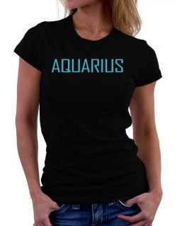 Aquarius Basic / Simple Women T-Shirt