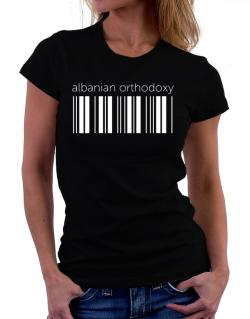 Albanian Orthodoxy barcode Women T-Shirt