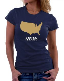 Staten Island - Usa Map Women T-Shirt