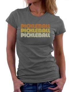 Pickleball Retro Color Women T-Shirt