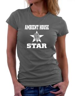 Ambient House Star - Microphone Women T-Shirt