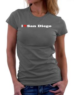 I Love San Diego Women T-Shirt