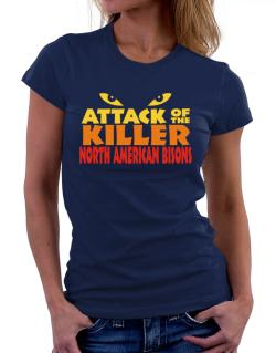 Attack Of The Killer North American Bisons Women T-Shirt