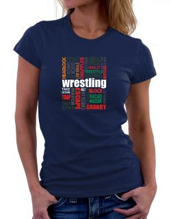 Wrestling Words Women T-Shirt