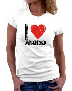 I Love Aikido Women T-Shirt