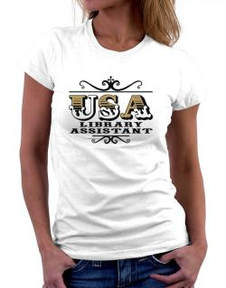Usa Library Assistant Women T-Shirt