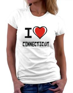 I Love Connecticut Women T-Shirt