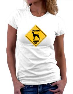 "Playeras de "" Dogs at play Weimaraner """