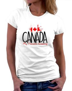Canada my favorite country Women T-Shirt