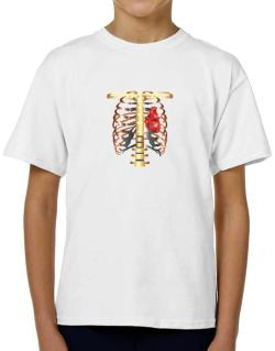 1041a3cf 3D rib cage and heart model Women T-Shirt