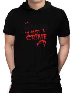 Being A ... Giant Millipede Is Not A Crime Hooded T-Shirt - Mens