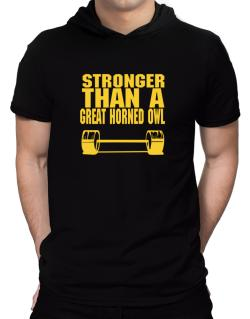 Stronger Than A Great Horned Owl Hooded T-Shirt - Mens