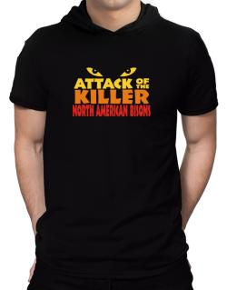 Attack Of The Killer North American Bisons Hooded T-Shirt - Mens