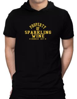 Property Of Sparkling Wine - Drunken Department Hooded T-Shirt - Mens