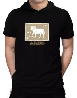 Aries Hooded T-Shirt - Mens