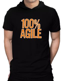 100% Agile Hooded T-Shirt - Mens