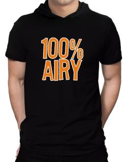 100% Airy Hooded T-Shirt - Mens
