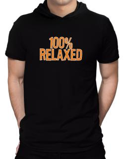 100% Relaxed Hooded T-Shirt - Mens