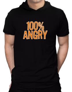 100% Angry Hooded T-Shirt - Mens